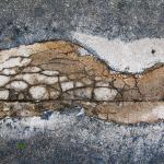 Cracked Pavement patch, 10-16-2014